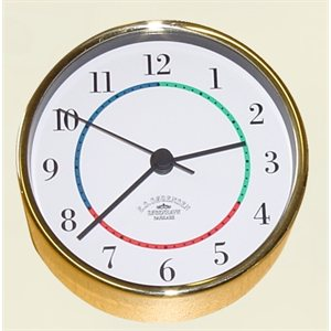 "horloge en laiton 4"" av / chif. arabes"