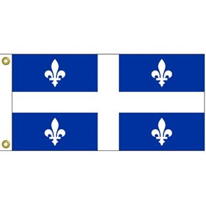 "QUEBEC FLAG 12""X24"""