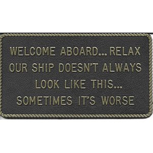 "FUN PLATE ""WELCOME ABOARD"""