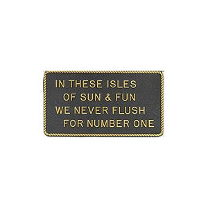"PLAQUE ""ISLE OF SUN & FUN"""
