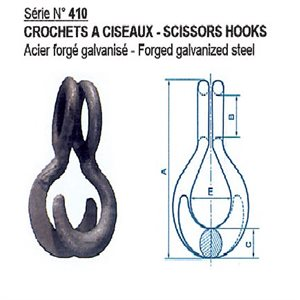 scisor hook for safety chain