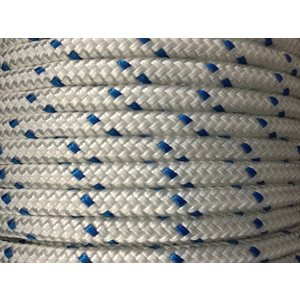 double braided polyester rope 5 / 16'' with blue trace