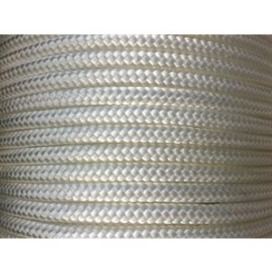 "double braided nylon rope 1 / 4"" white"