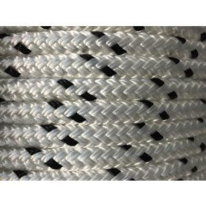 "double braided polyester rope 7 / 16"" with black trace"