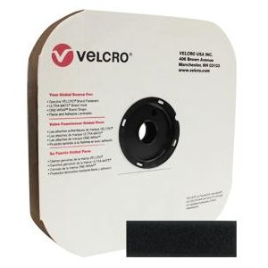 "1"" velcro® black pressure sensitive loop"