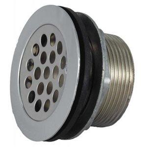 Shower Strainer w / Grid, locknut, slip nut, rubber and plasti