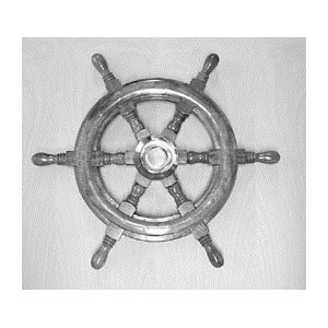 wooden wheel captain 24""