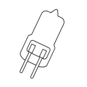 Ampoule pivotante au xénon, G4, 12 v, 20 w, en laiton laqué