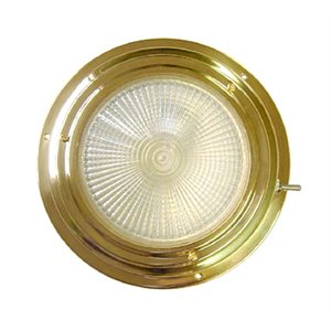 DOME LIGHT BRASS 4'' HALOGENE RED