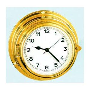 """horloge """"yacht"""" en laiton 4'' à chiffres arabiques"""
