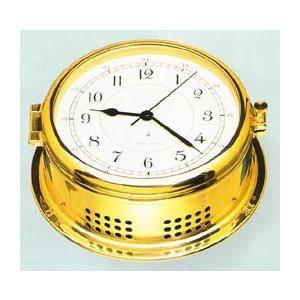 """horloge en laiton au  quartz """" ship's bell""""  6"""""""