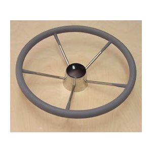 """volant inox 15.5""""  gainé gris"""