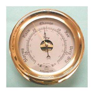 classic barometer 4'' polish brass