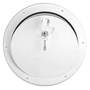 "HATCH, ROUND WHT, LOCKING 12-3 / 8"" OD"