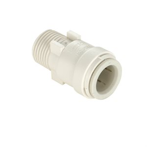 "1 / 2"" x 1 / 2"" male thread connector, white"