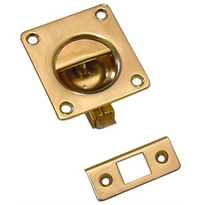 CABINET DOOR LATCH, BRASS 47mm X 43mm