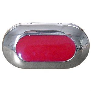 4 RED LED LIGHT,LED RECESS.CHR.BEZL