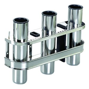 TRIPLE ROD HOLDER with KNIFE HOLDER S.S.