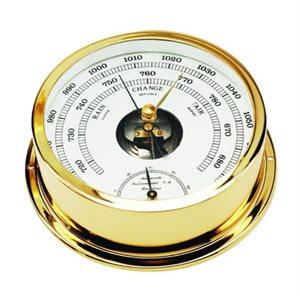 baromètre /  thermomètre plaquée or cadran 95mm