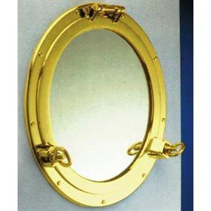 miroir hublot 162mm, laiton