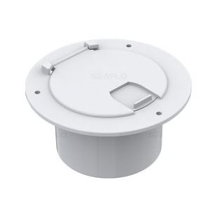 ROUND CABLE HATCH 3.5'' INSIDE HOLE SIZE, WHITE