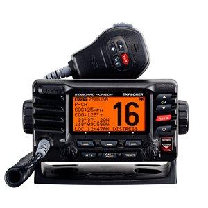 radio vhf / gps explorer noire avec fonctionnalité gps