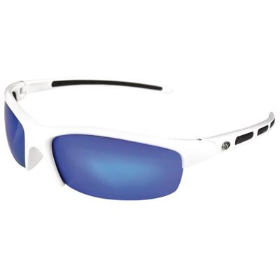 SUNGLASS SNOOK WHITE FRAME BLUE MIRROR