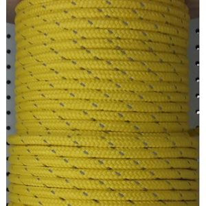 "cablot flottant olefin 3 / 8"" jaune av. bande de reflexio"