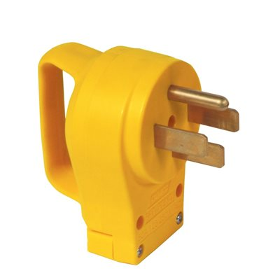 50amp powergrip repl male plug 125-250v / 12500w clam ccsaus
