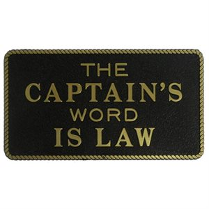 "FUN PLATE  ""CAPTAIN'S WORD IS LAW"""